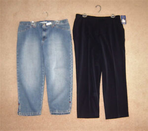 Tommy Hilf Capris, New Pants, 40+ Tops, Jackets (some new) 16,XL