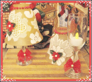 CHRISTMAS DESIGNED WINE GLASS TEA LIGHT LAMPS.