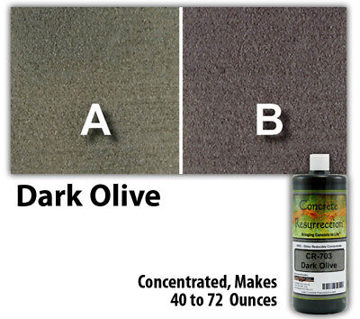 Professional Easy To Apply Water Based Concrete Stain Dark Olive 8oz Bottle