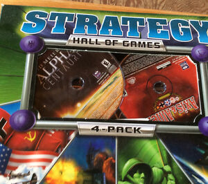 2001 STRATEGY HALL OF GAMES 4-PACK. STRATEGY ACTION X 4 Gatineau Ottawa / Gatineau Area image 2