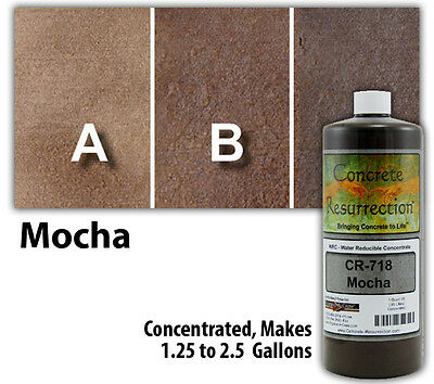 Professional Easy To Apply Water Based Concrete Stain - Mocha