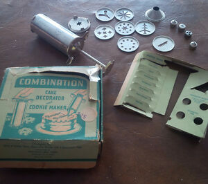 Vintage Cake Decorator & Cookie Maker Combination, Original Box