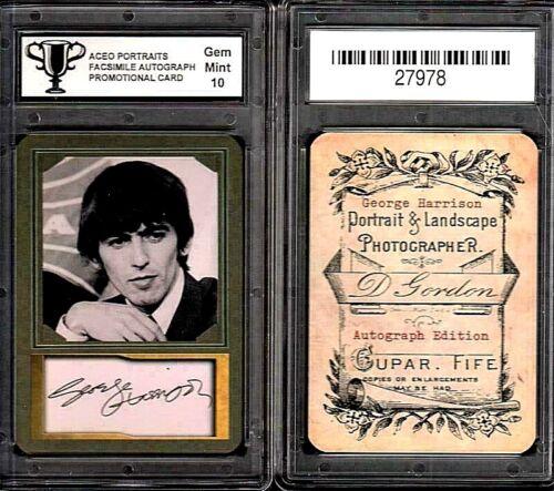 George Harrison The Beatles ACEO Portrait Card Graded 10 Gem Mint