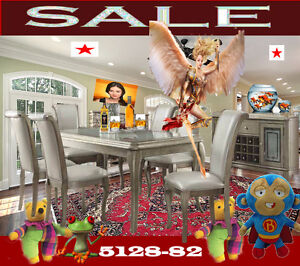 modern dining & dinette room sets, tables,  chairs, curio, 5128