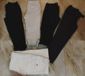 4 Pairs Womens Capris Size 6/8 & 1 Pair White Jeans