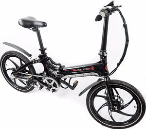 Compact foldable electric bicycle - easy and safe driving