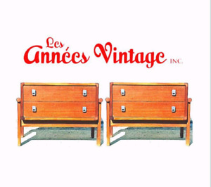 Tables Chevet RS Teck  Vintage Teak Nightstand