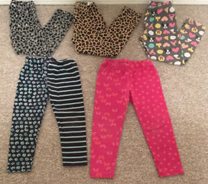 Toddlers sz S (5/6) Leggings with prints