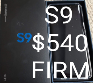**SAMSUNG S9 ONLY $540!!!**