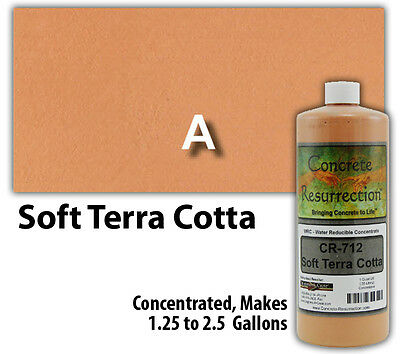 Terra Concrete - Professional Easy to Apply Water Based Concrete Stain - Soft Terra Cotta