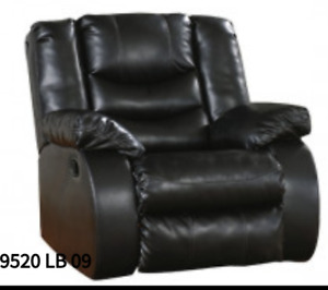 Brown Leather Sofa, Love Seat and Reclining Chair