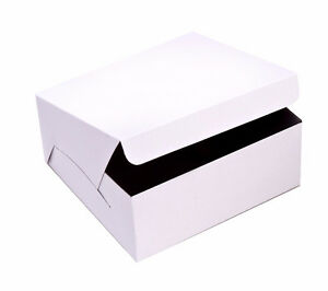 White Square cake boxes packaging
