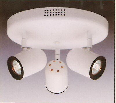 White With Black Baffle Adjustable 3 Light Low Voltage Ceiling Fixture