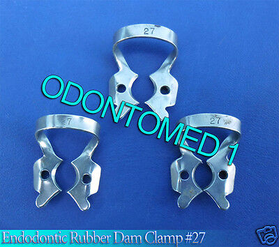 6 Endodontic Rubber Dam Clamp 27 Surgical Dental Instruments
