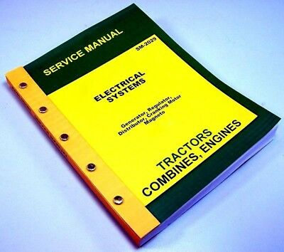Service Manual For John Deere Ao B Br Bo D Tractor Electrical Systems Magneto
