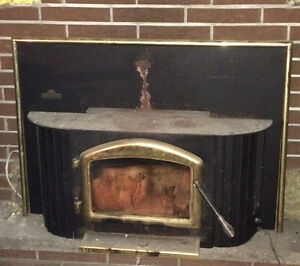 wood burning fireplace stove insert