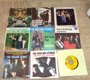 Vintage 45 RPM Vinyl Records Promo's Rolling Stones Satisfaction