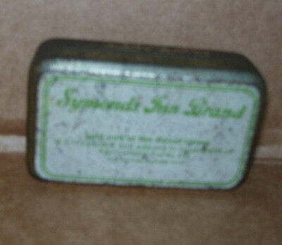Vintage Symonds Inn Brand Bouillon Cubes Empty Tin Sold Only at Rexall Stores