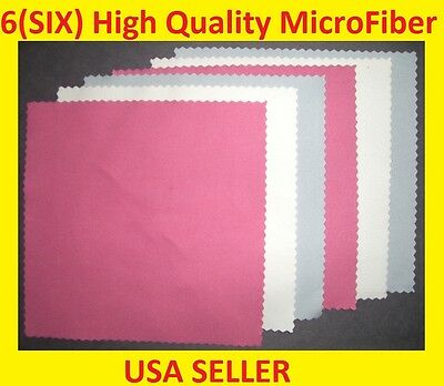 6 pc RWB MICROFIBER CLEANING CLOTH -> Ipad Ipod Tablet Laptop Iphone LED Screen