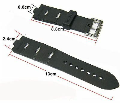 24mm  Rubber Strap BVLGARI Rubber Watch Strap Band ()