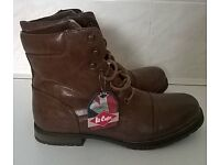 ***NEW WITH TAGS *** Men's Tan Size 10 Lee Cooper Boots