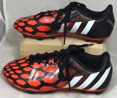 adidas Predito Soccer Cleats size 4 Youth boys girls orange black Shoes (bin D)