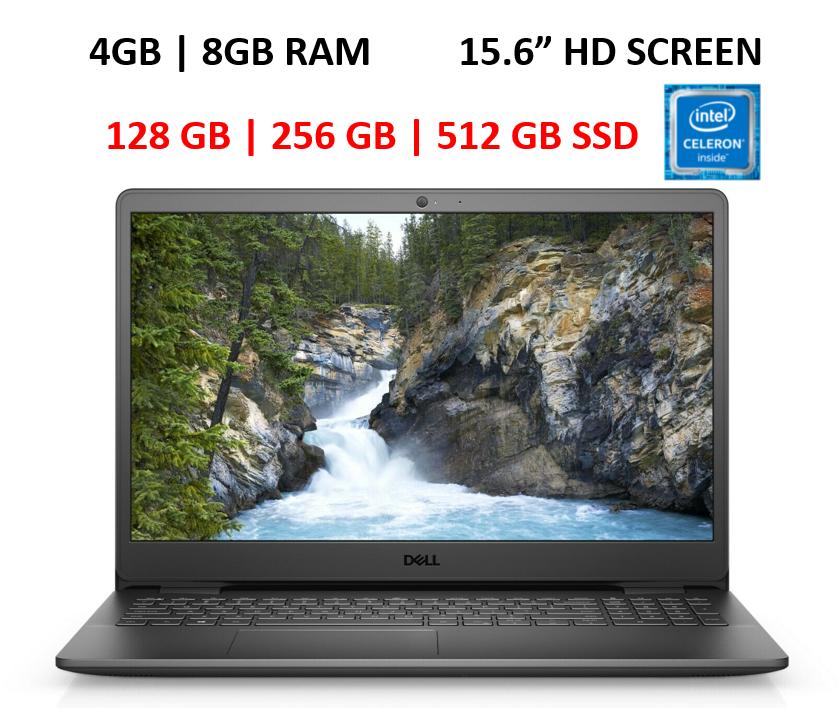 "New Dell Inspiron 15.6"" Laptop Intel N4020,4GB | 8GB RAM,128 | 256 | 512GB SSD"