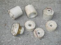 █ ♣ █ CERAMIC / PORCELAIN  INSULATORS ANTIQUES █ ♣ █