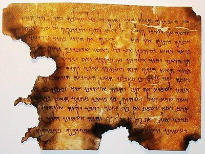 Dead Sea Scrolls, Christian, Hebrew Parchment, Moses, Ten Commandments, Exodus