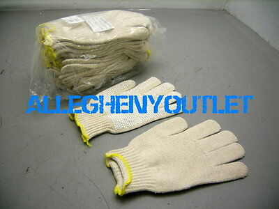 12 Pair Pvc Dot Cotton Work Seemless Knit Gloves Ppe Large Xl New
