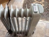 Electric radiator on wheels