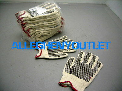 2 Pair Poly/Cotton Garden Work Gloves Dotted ...