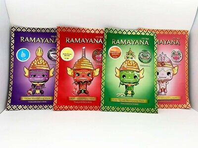 Thai Literature Ramayana Best Natural Moisturizing Face Mask Sheet Skin Care (Best Natural Face Care)