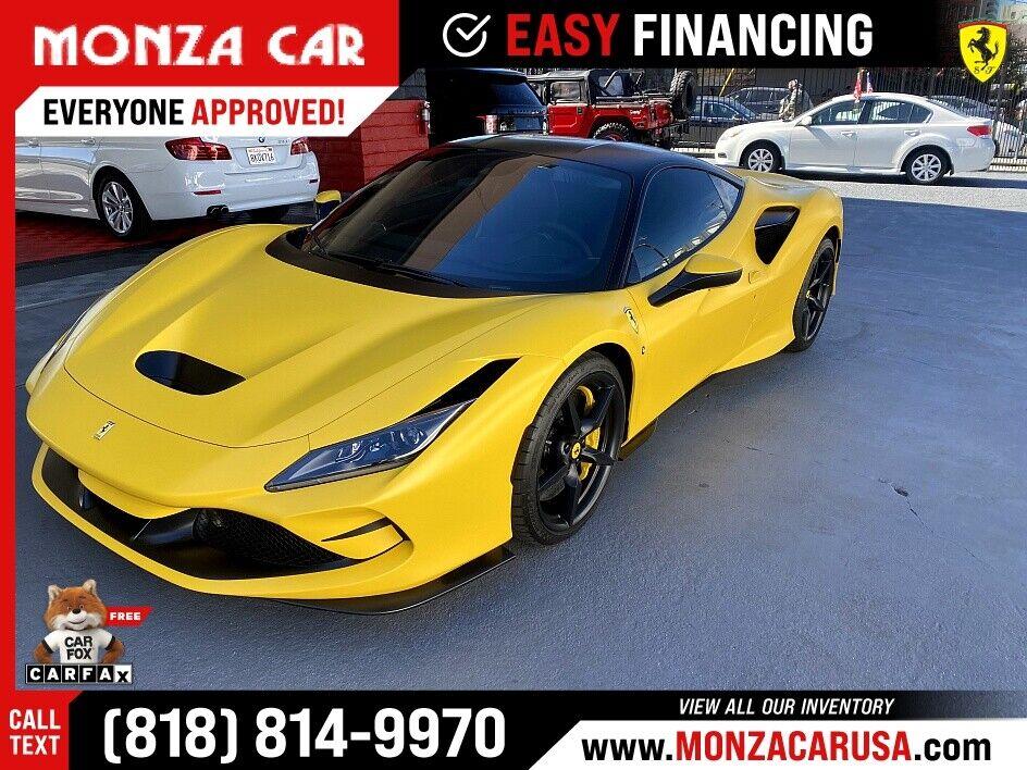 2020 Ferrari F8 Tributo  2,800 Miles Yellow Coupe Engine: 3.9L V8 Twin-Turbo Aut