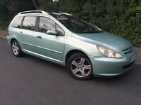 7 SEAT - PEUGEOT 307 SW - 1 YEARS MOT - PANORAMIC SUNROOF