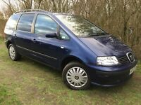 6 SEAT - DIESEL - 6 SPEED - 1 YEARS MOT - 2004 SEAT ALAHAMBRA