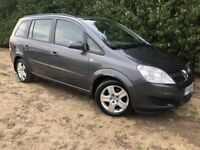 7 SEATER - 2009 ZAFIRA - 1 YEARS MOT - LOW MILES - NEW CLUTCH