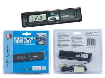 All Ride Indoor / Outdoor Censor Thermometer Battery Operated Light Van Lorry
