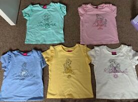 Baby girls shorts & tops 12-18 1-1.5years Disney