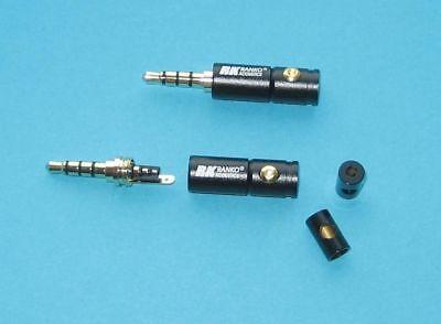 Rean NYS231G 3.5mm Stereo Plug Nickel Housing Gold Plug 4 Pac