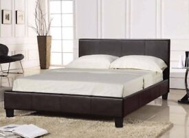 BRAND NEW DOUBLE SINGLE AND KING SIZES AVAILABLE DOUBLE LEATHER BED AND MATTRESS RANGE --SAME DAY--