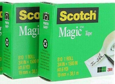 Scotch Magic Tape 810 Refill 34 In X 1500 In 2 Rolls Fast Shipping