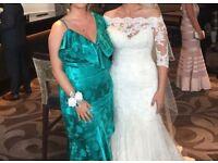 Enzoani Wedding Lace Jacket for dress, size 12