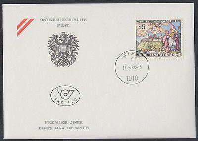 Österreich Austria 1989 FDC Mi.1944 Melk Kloster Monastery Fresko Fresco [af228]