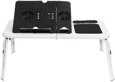 Mesa PC Soporte Plegable Ordenador Portátil Tablet Mesa Con Ventiladores