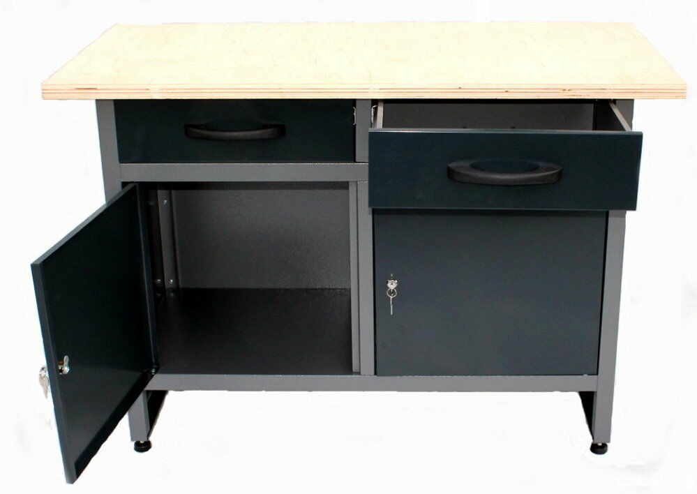 werkstatt werkbank werkzeug arbeitsplatz werkstattausr stung unterschrank neu eur 189 90. Black Bedroom Furniture Sets. Home Design Ideas