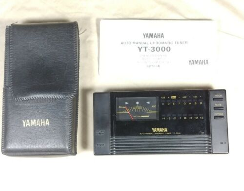 Vintage Yamaha YT-3000 Guitar Bass Tuner Chromatic With Case And Instructions - $29.99