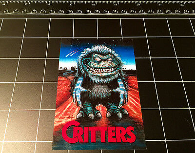 Critters 1986 movie logo vinyl decal sticker 80s horror halloween monster  - 80's Halloween Movies