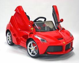 Kids Electric Ride On Car Ferrari LaFerrari 12v Red RRP £249.99