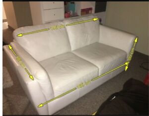 White couch/love seat must go